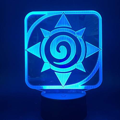 Nur 1 Stück 3d LED Nachtlicht Lampe Spiel Hearthstone Kinder Schlafzimmer Nachtlicht Touch Sensor Farbwechsel Tischlampe Nachttisch