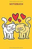 Notizbuch: Verliebte Katzen Herz Liebe Valentinstag