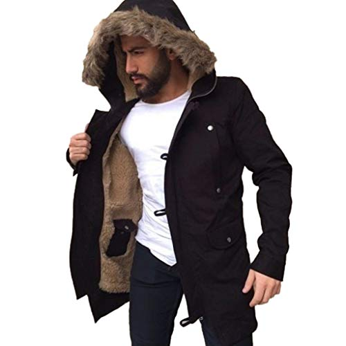 Charberry Mens Casual Jacket,Winter Men Sport Jackets Overcoat Outwear Hooded Wind Breaker Coat