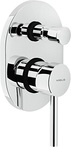 Nobili rubinetterie LV00100CR Live Miscelatore Monocomando per Doccia ad Incasso con Deviatore, Cromo
