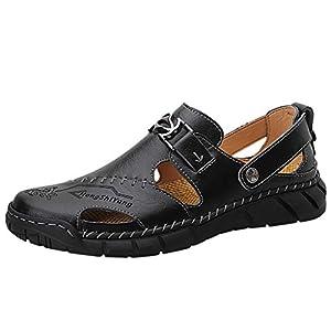 Zapatos Casuales De Talla Grande para Hombre Sandalias Deportivas De Verano Al Aire Libre Antideslizante Transpirable Zapatos Super Ligeros Elegantes Zapatillas De Playa Vintage De CañA Alta Negro