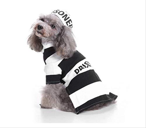JBPX Huisdier Kostuum Katten Gevangenis Uniform Cosplay Jas Honden Feestkleding Voor Halloween, Chest 48cm