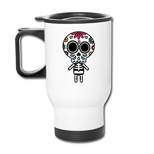 JUKIL Sugar Skull Woman - Taza clásica de viaje con taza pa