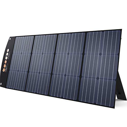 BALDR ソーラーパネル 120W 最新型ETFEソーラーチャージャー 23.5%の高転換率 DC出力 折り畳み式ポータブル電源充電器(120W 18V 6.6A) USB出力 スマホやタブレット充電器 PD対応 QC3.0搭載 急速充電 直列並列可太陽光パネル 単結晶 防災 アウトドア IP65防水 大容量ポータブル電源チャージ用 120W