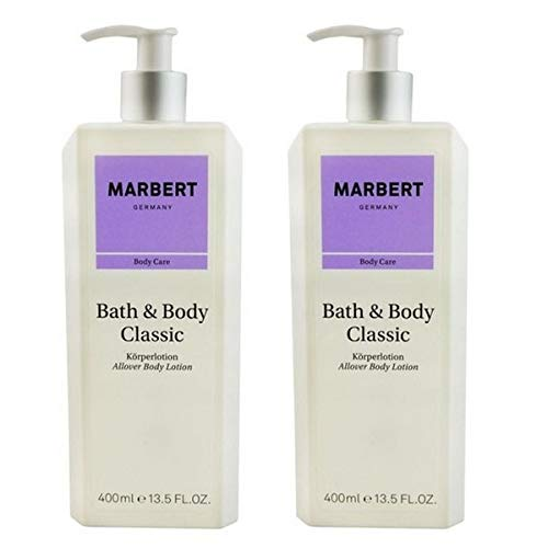 Marbert Bath Body Classic Körperlotion, 2 x 400 ml