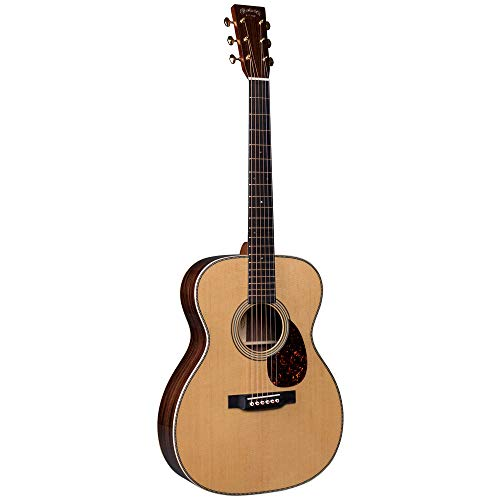 Martin Guitar OM-28 Modern Deluxe Acoustic Guitar with Hardshell Gig Case, Sitka Spruce and East Indian Rosewood Construction, 000-14 Fret and Vintage Deluxe Neck Shape with Standard Taper
