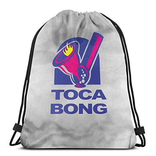 HFXY Toca Bell Bong Fun Drawstring Bag Sport Gym Sack Shopping Travel...