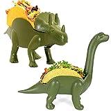 Dinosaur Taco Holder Set, Tacosaurus Taco Holder Dinosaur for Kids Dino Taco Holder 2 Pack Novelty Funny Mealtime