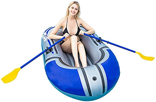 WEUN 1-2 Persona Gonfiabile Boat, Pesca Gonfiabile Kayak Set Gommonibile con 2 Remi e 1...