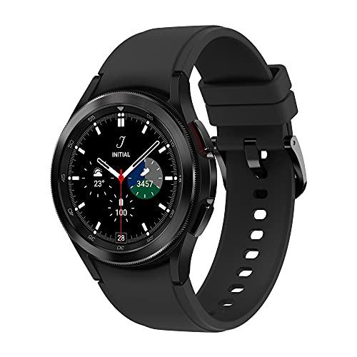 Samsung Galaxy Watch4 Classic, Runde LTE Smartwatch, Wear OS, drehbare Lünette, Fitnessuhr, Fitness-Tracker, 42 mm, Black (Deutche Version)