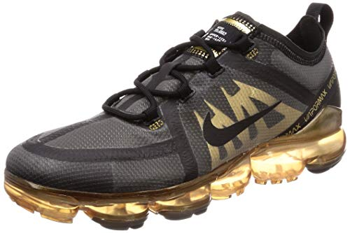 Nike Air Vapormax 2019 - Zapatillas de Atletismo para Hombre, Black/Metallic Gold 002, 42 EU
