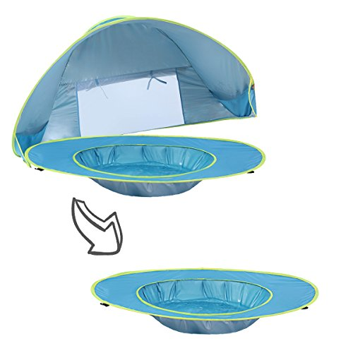 Image of Monobeach Baby Beach Tent Pop Up Portable Shade Pool UV Protection Sun Shelter for Infant