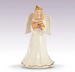 Lenox Thanksgiving Angel with Cornucopia Fine Porcelain Collectible Figurine