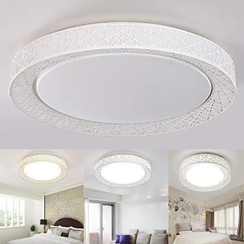 FGAITH plafondlamp, rond, warm en eenvoudig, lamp met afstandsbediening voor verduistering, met afstandsbediening voor de woonkamer
