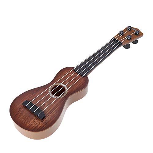 Wakauto Ukelele Niños Principiantes Niños Niñas 14 Pulgadas Guitarra Acústica de Juguete para Niños Ukelele de Color Madera para Principiantes
