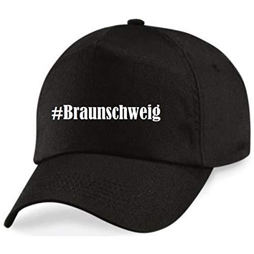 Reifen-Markt Base Cap Hashtag #Braunschweig Größe Uni Farbe Schwarz Druck Weiss