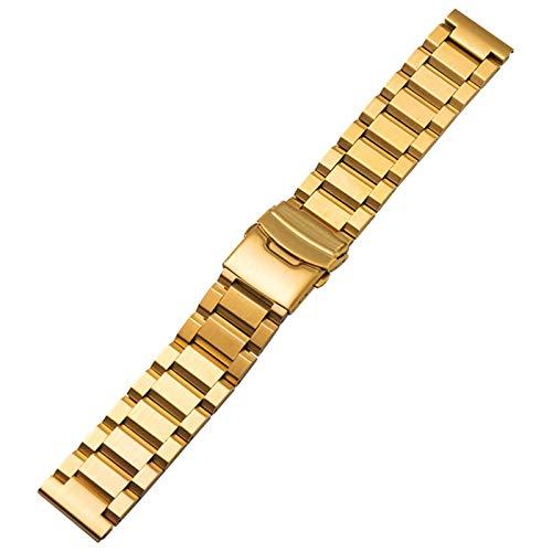 ZHMIAO Reloj Correas, Acero Inoxidable Liberación rápida Soft Impermeable a Prueba de Agua Reloj de reemplazo de reemplazo, Colores múltiples Colores Ajustables gold-18mm