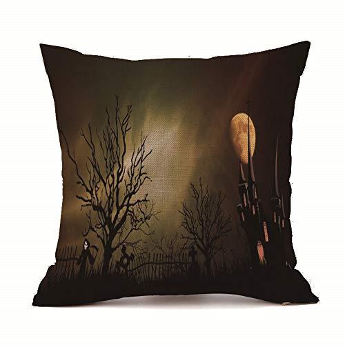 LOKODO Halloween Decorative Pillow Cover Sofa Bed Home Decoration Festival Pillow Case Cushion Cover Lumbar Pillowcase