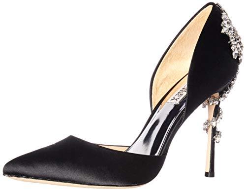 Badgley Mischka Women's Vogue Pump, black satin, 8.5 M US