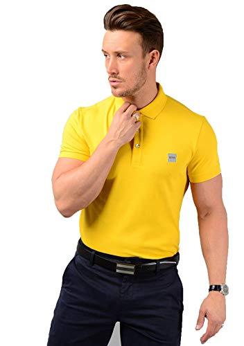 BOSS Herren Passenger Poloshirt, Gelb (Medium Yellow 723), Large (Herstellergröße: L)
