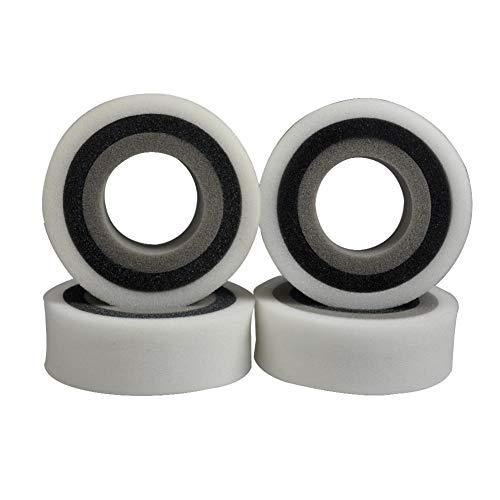 Camisin Esponja de Espuma con Incrustaciones de 4 Piezas para NeumáTicos de Orugas RC de 1,9 Pulgadas, NeumáTicos de Escala 1/10 Trx4 D90 D110 Axial Scx10 CC01