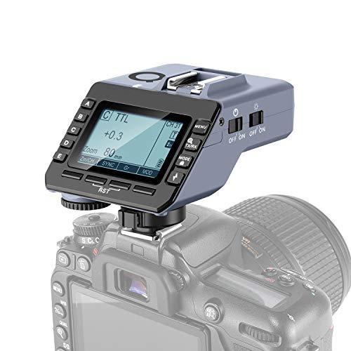 Neewer Q-N TTL Wireless Flash Trigger Compatibile con Nikon Reflex Digitali & Q3 NW420 NW655 S101 PRO Flash Monoluce, 1/8000s HSS, 5 Tasti GROUP Separati, Ghiera di Comando & Luce Ausiliaria AF