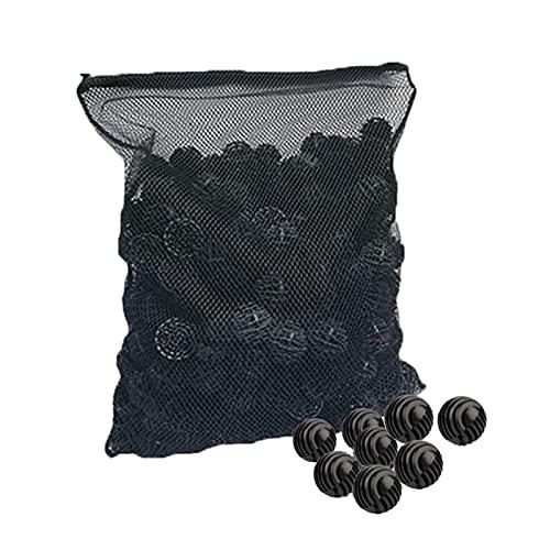 Xzbling Bolas de Filtro biológico, Bolas de Filtro de Acuario Bolas de Filtro de Agua biológica Bolas de Medios filtrantes biológicos Reutilizables Kits de Medios filtrantes para acuarios