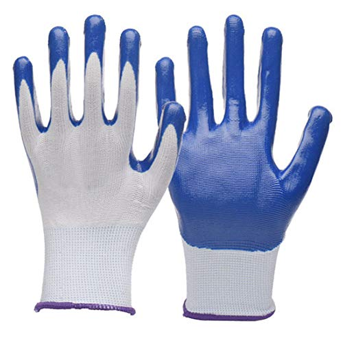 Gardening Gloves Women, 4 Pairs, Hypoallergenic, Nitrile Coated Garden Gloves Protect Against Cuts...