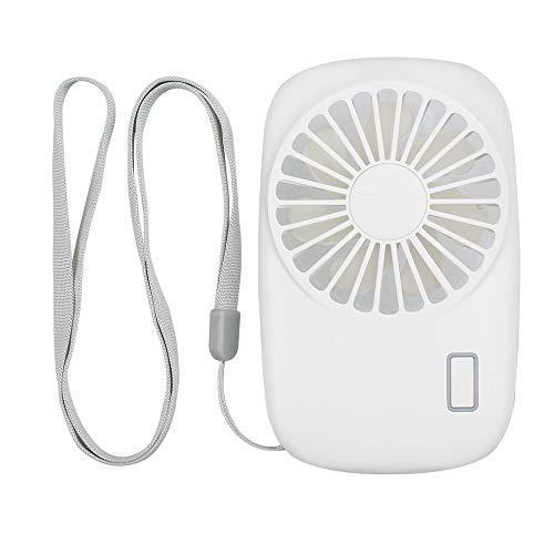 TANiCE - Mini Ventole Palmare Portatile Ventaglio Ventilatore USB Ventilatori Personali con Velocità Regolabile con Cordino per Casa Ufficio Viaggio Esterno - Bianco