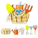 6-teilig Spielwerkzeuge für den Garten/Strand, 6 Werkzeuge und Gießkanne in Tragetasche, Kinder...
