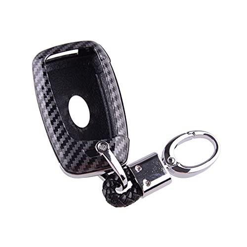 BENGANG Coche 3 botón de Teclas Caso Fob Fob para Hyundai Palisade Lugar de Acento Santa Fe Veloster Kona Elantra GT 2020 Estilo de Fibra de Carbono