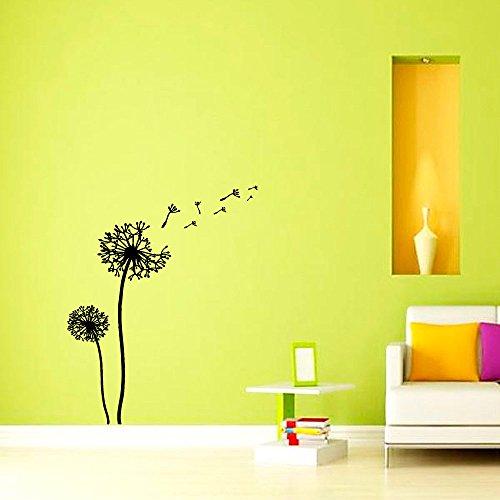 Stickers muraux Pissenlit Fleur Nursery Art Chambre vinyle autocollant Décor murale peintures murales autocollants muraux vk46