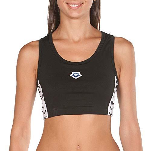 Arena W Team Sport Top BH für Damen, Damen, 001778_501_M, Schwarz (Black), M