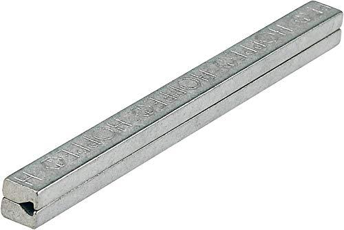 Hoppe Profilstift 4-KT.8mm L.140mm Fe verz.