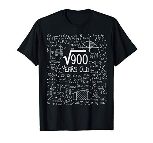 Raíz cuadrada de 900: 30 años, regalo de 30 cumpleaños Camiseta