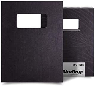 Square Corners USI Black Composition Binding Covers 200 Sheets 8 1//2 x 11 Inches