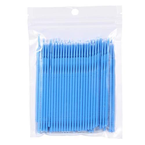 Unibell 100PCS / Sac femelle Micro jetable Extension Mascara brosse cils bâton de colle Nettoyage (Bleu)