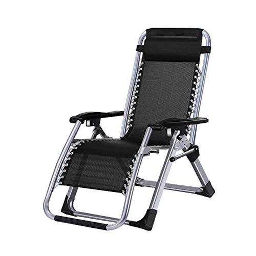 Chaise Pliante en textilène de Jardin Chaise Longue au Soleil Chaise Longue de Plage réglable en Plein air portative Noire