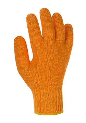 (12 Paar) teXXor Handschuhe Grobstrickhandschuhe Criss Cross 12 x orange 10
