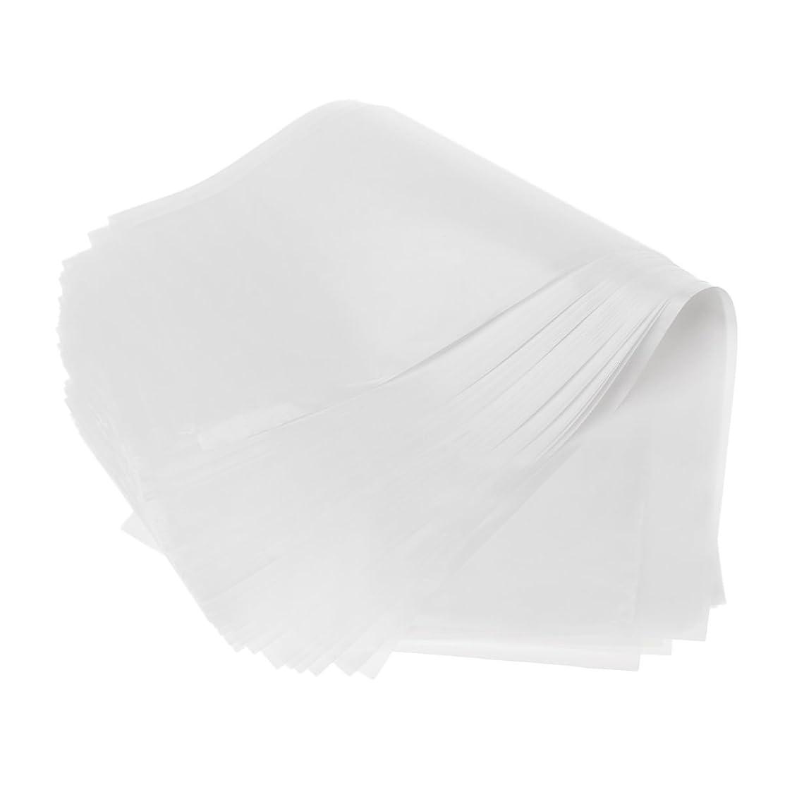カレンダー最大限報酬T TOOYFUL 50pcsサロンプラスチック染毛紙カラーハイライト分離シート再利用可能 - ホワイト