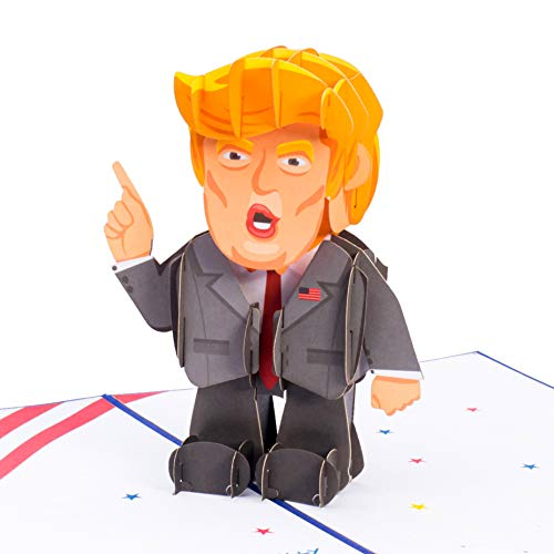 Paper Love Trump Pop Up Card, Handmade Funny 3D Popup Greeting Cards, for Fathers Day, Birthday, Graduation, Thinking of You, All Occasion | 5' x 7'