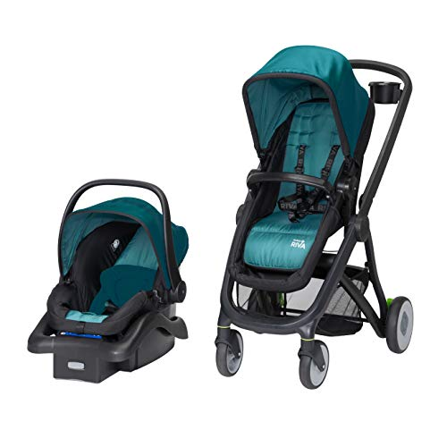 Safety 1st Riva 6 in 1 Flex Modular Travel System with Onboard 35 FLX Infant Car Seat and Base, Blue Sky