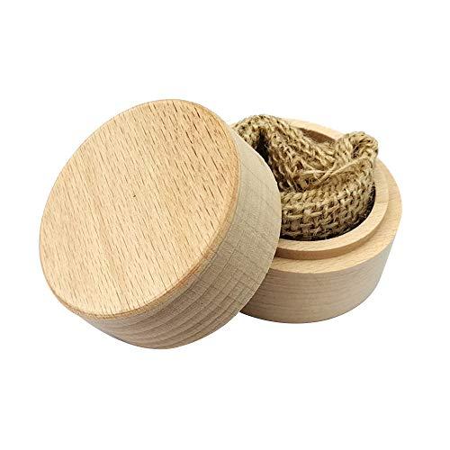 Caixa redonda do casamento de madeira da faia DIY sem letras na superfície