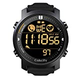 CakCity Mens Digital Sport Watches for Men Wrist Watches with Heart Rate, Pedometer, Steps Tracker