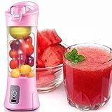 Mini Liquidificador Mixer Juice Usb Garrafa Portatil Coquete (rosa)
