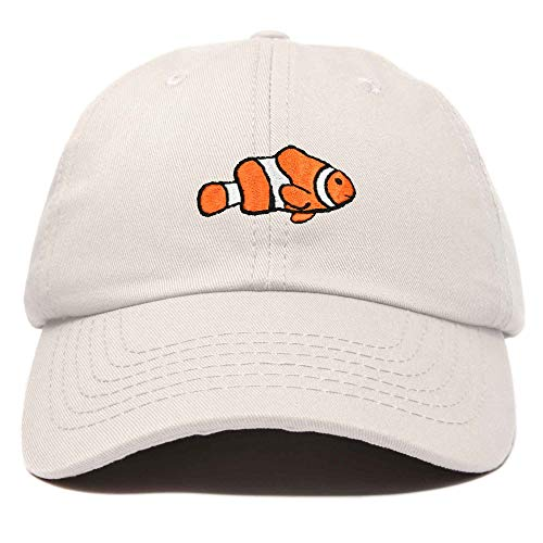 DALIX Clownfish Baseball Cap Tropical Dad Hat for Men Women's Hats in Beige
