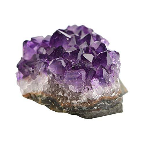 Perfeclan Amatista Piedra Natural, piedra de decoración, chakra de curación Piedra preciosa de amatista - 10-20g