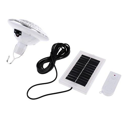 SM SunniMix Luces LED para Acampar Al Aire Libre Portátil Senderismo Linterna Lámpara Solar Enganche Blanco