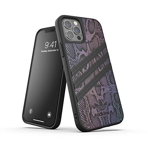 adidas Funda diseñada para iPhone 12 / iPhone 12 Pro 6.1, Fundas a Prueba de caídas, Bordes elevados, Carcasa Original Moldeada, Color Negro