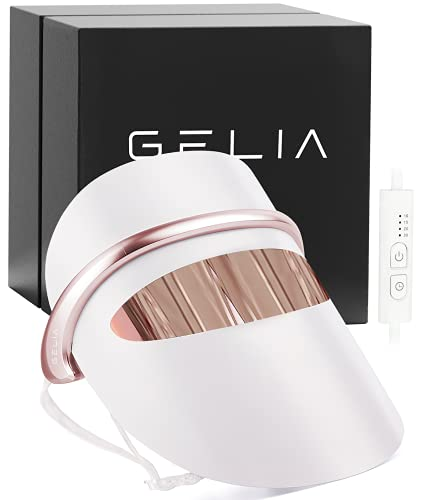 GELIA New 7 Colors Light Weight LED Light Therapy Mask, LED Light Therapy Mask for Wrinkles Skin Rejuvenation Home Use   Home Light Therapy Facial Care Mask